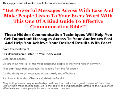 Effective Communication: Literally Brainwash Others To Act