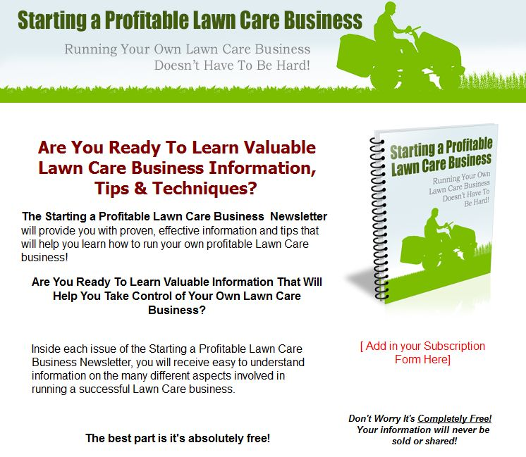 a discussion of the steps to a successful lawn care business The resource start your own lawn care or landscaping business : your step-by-step guide to success, entrepreneur press and eileen figure sandlin.