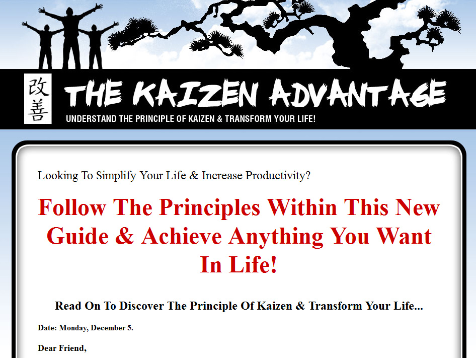 The Kaizen Advantage MRR Ebook