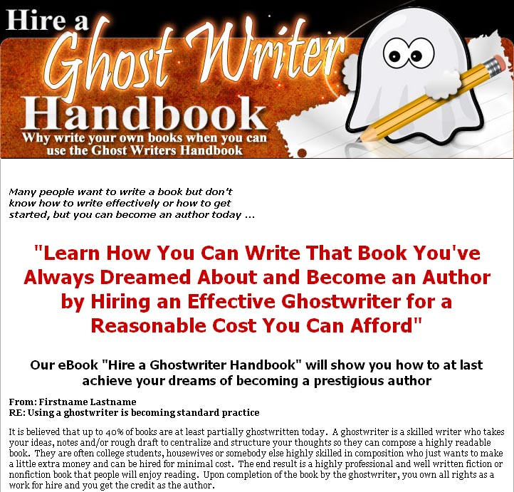 best ghost writers for hire