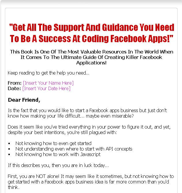 Coding Facebook Plr Ebook