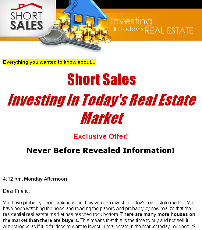 Short Sales – Investing In Today's Real Estate MRR Ebook