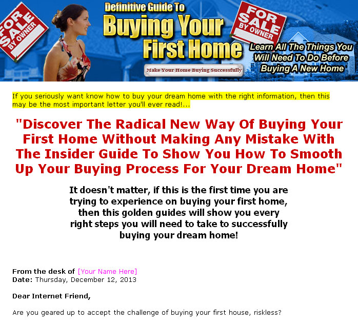 Buying your first home plr ebook click here to view full sales page fandeluxe PDF