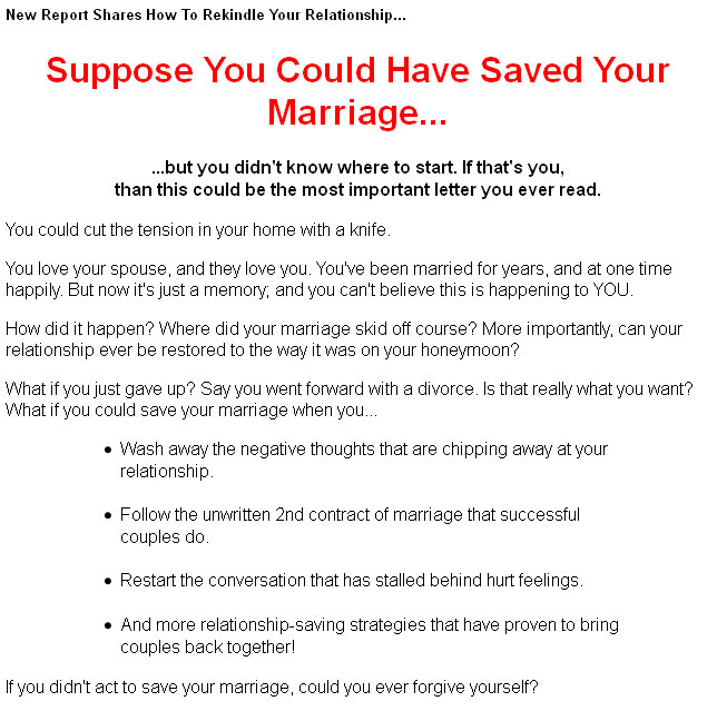 how to stop divorce and save your marriage