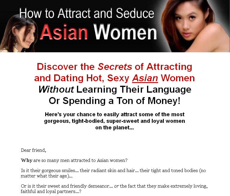 Something single asian women that attract