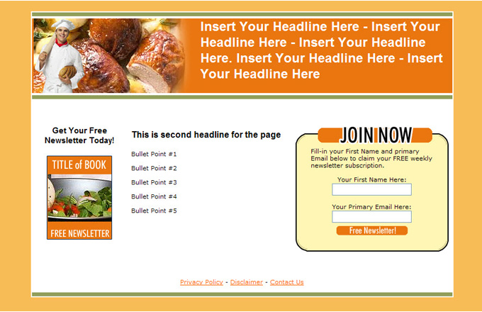 Cooking PLR Autoresponder Email Series