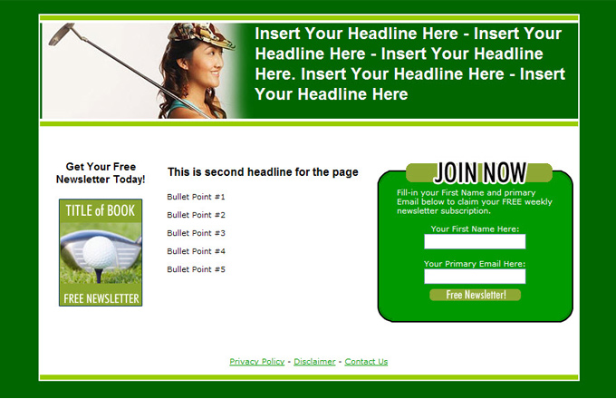 Golf PLR Autoresponder Email Series