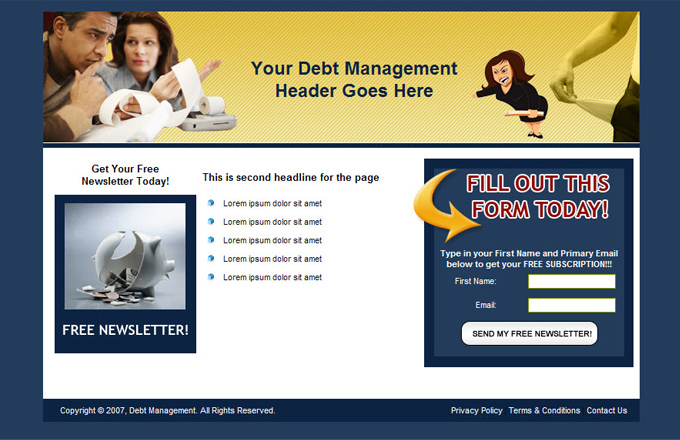 Debt Management PLR Autoresponder Email Series