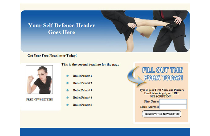 Self Defense PLR Autoresponder Email Series