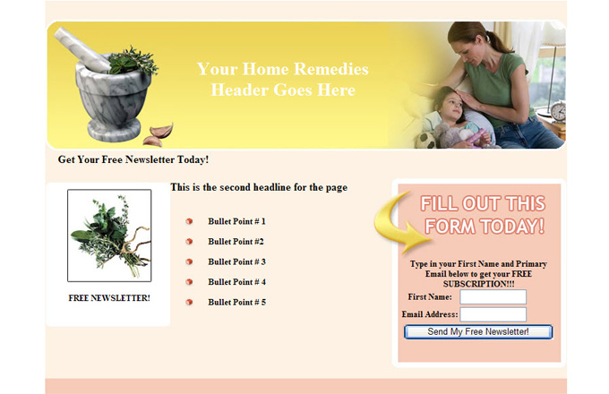 Home Remedies PLR Autoresponder Email Series