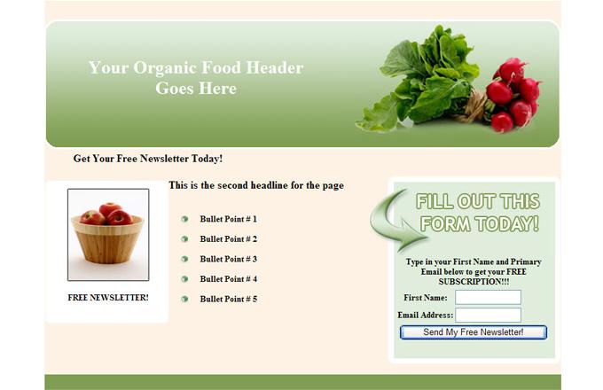 Organic Food PLR Autoresponder Email Series