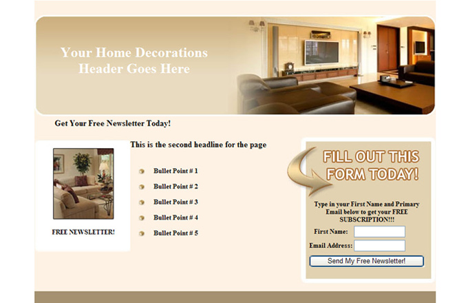Home Decororation PLR Autoresponder Email Series