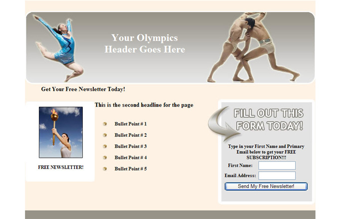 Olympics PLR Autoresponder Email Series