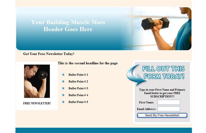 Building Muscle Mass PLR Autoresponder Email Series