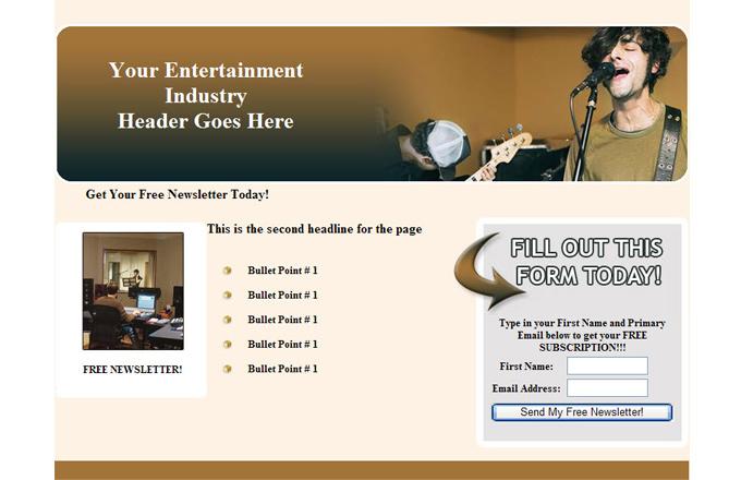 Entertainment Industry PLR Autoresponder Email Series