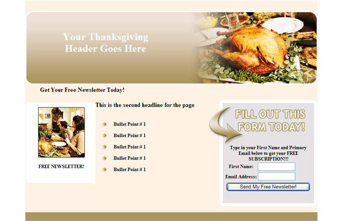 Thanksgiving PLR Autoresponder Email Series