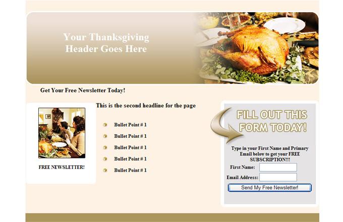 Thanksgiving PLR Autoresponder Email Series