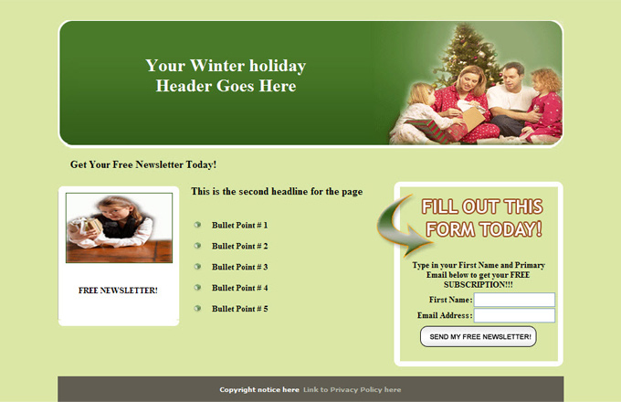 Winter Holidays PLR Autoresponder Email Series