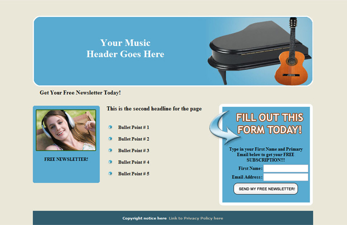 Music PLR Autoresponder Email Series