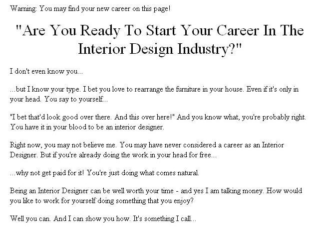 New Plr How To Break Into The Interior Design Industry Plr Ebook Download