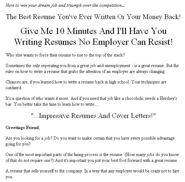 how to write an impressive cover letter for a resume
