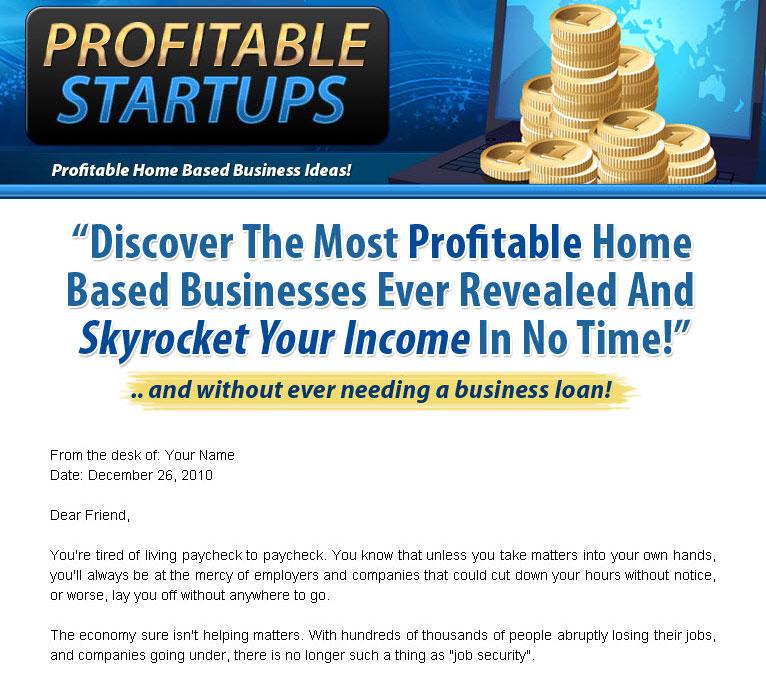 Start A Profitable Home Based Business Plr Ebook