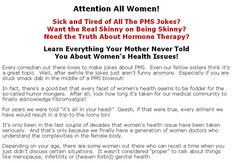 Womens health issues plr ebook click here to view sales page table of contents fandeluxe Epub