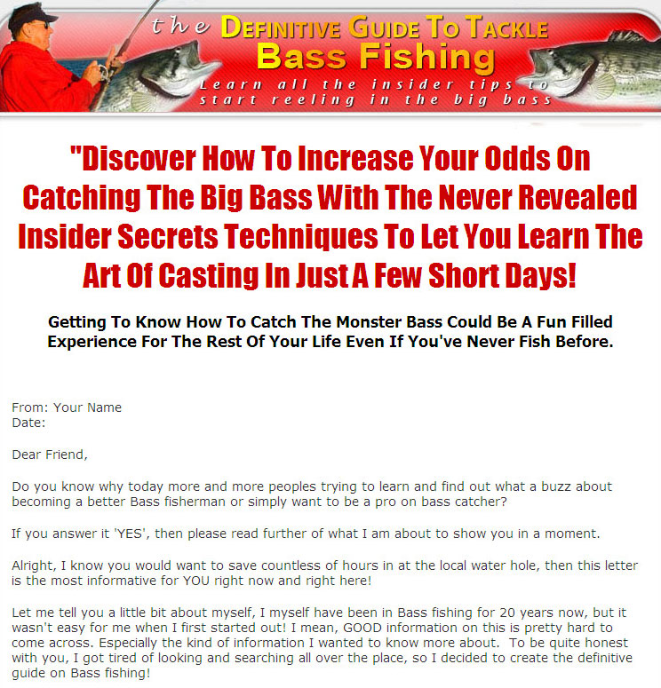 The definitive guide to tackle bass fishing plr ebook fandeluxe Choice Image